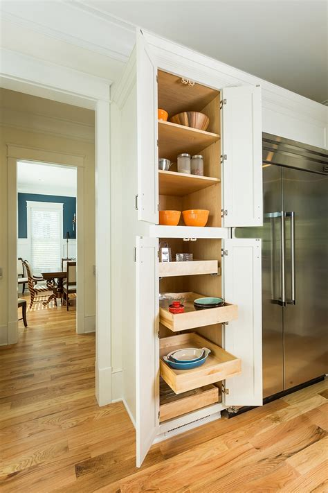 narrow kitchen pantry cabinet narrow pull out broom closet