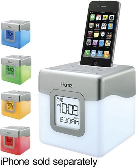 iphone screen changing colors ihome color changing dual alarm clock speaker for 30 pin