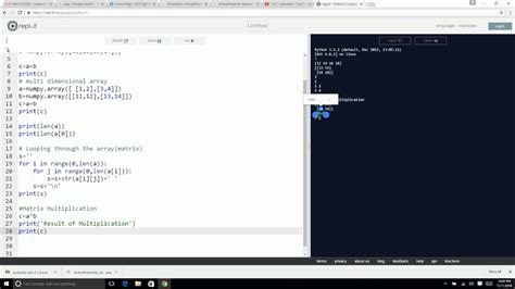 tutorial python matrices python tutorial for beginners part 2 numpy matrix and