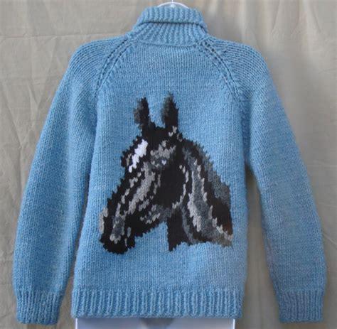 knitting pattern horse sweater vintage bulletin the vintage clothing blog bulky knit