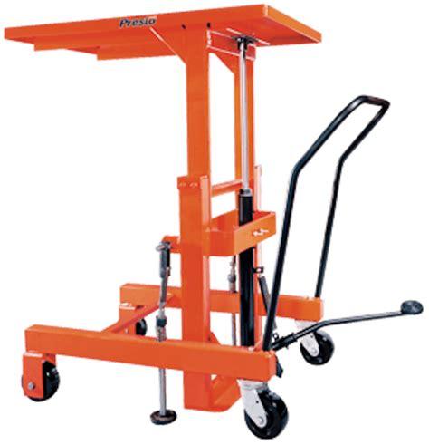 hydraulic pallet lift table presto lifts hand crank post lift p2436 p series 30 quot x 60