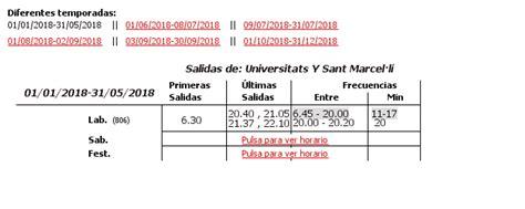 linea 72 autobus urbani di valencia emt linea 18 autobus urbani di valencia emt