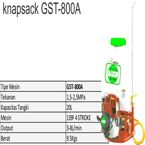 Harga Alat Semprot Air Tanaman harga jual green gst 800a alat semprot hama 20 liter