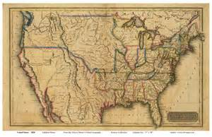 us map from early 1800 s maps genealogy
