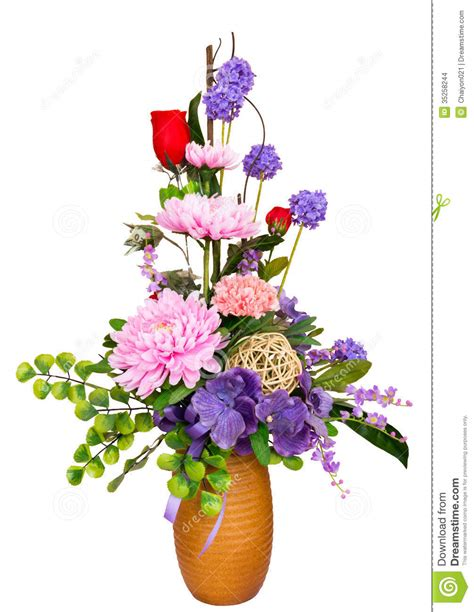 decorative flower decorative artificial flowers stock images image 35258244