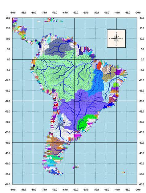 south america map basin south american drainage basins
