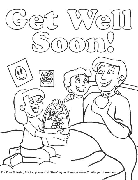 free printable coloring pages get well soon get well soon coloring pages to and print for free