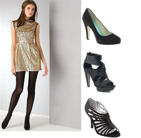 what shoes to wear with gold sequin dress style guru