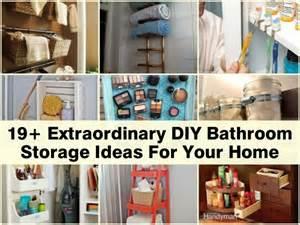 19 extraordinary diy bathroom storage ideas for your home