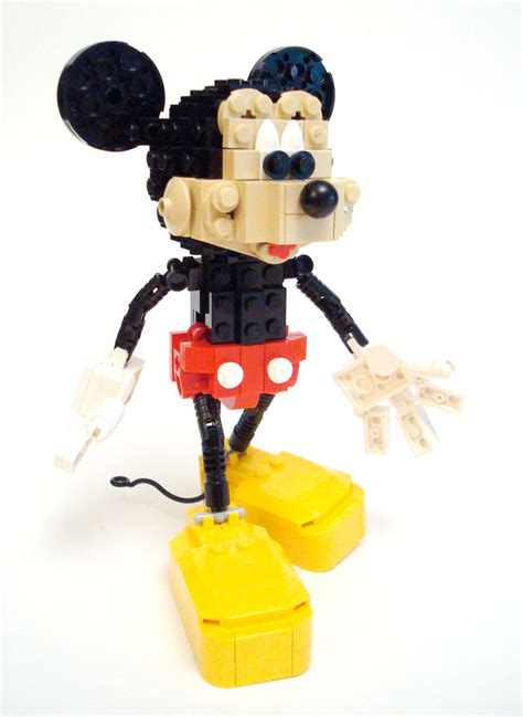 paperwalker mickey mouse unofficial lego sculpture