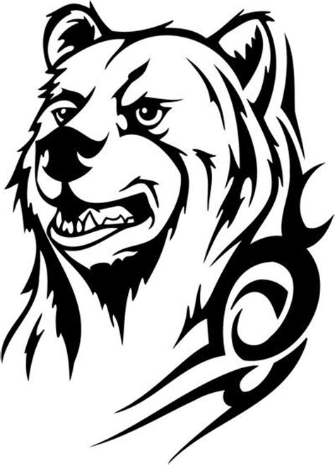 tribal bear tattoo designs free tribal coloring pages