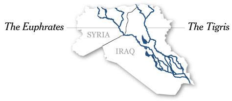 rivers in iraq map a rogue state along two rivers the new york times