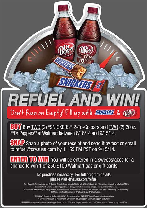 Snickers Sweepstakes - snickers dr pepper refuel sweepstakes tpg rewards