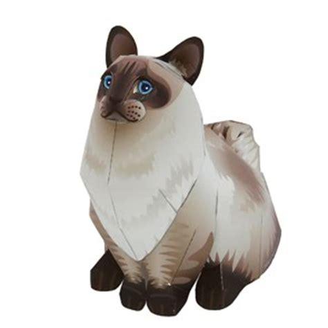 ragdoll 3d gato papercraft