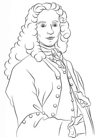 Voltaire Coloring page | Color Me Crazy | Pinterest