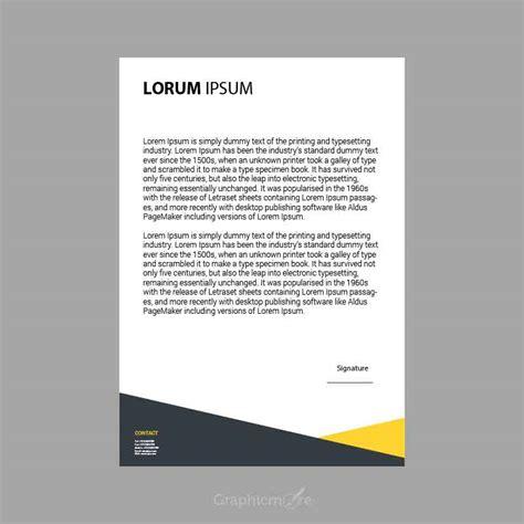 creative letterhead design template vector