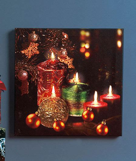holiday twinkling led canvas wall art wall hangings mirrors