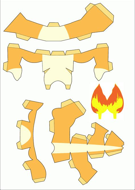 Papercraft Charizard - minecraft papercraft ash images