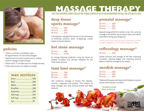 massage therapy brochures massage brochure on behance