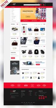ecommerce psd templates free freebie multipurpose ecommerce website template psd