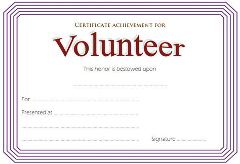 volunteer recognition certificate template volunteer certificate template 8 ss best 10 templates