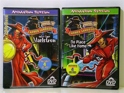 where on earth is carmen sandiego 2 dvds animation station