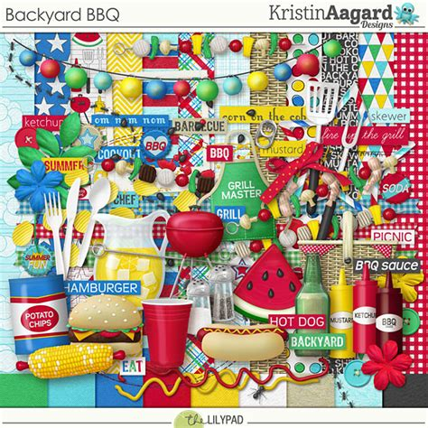 Backyard Bbq Kits Digital Scrapbook Kit Backyard Bbq Kristin Aagard