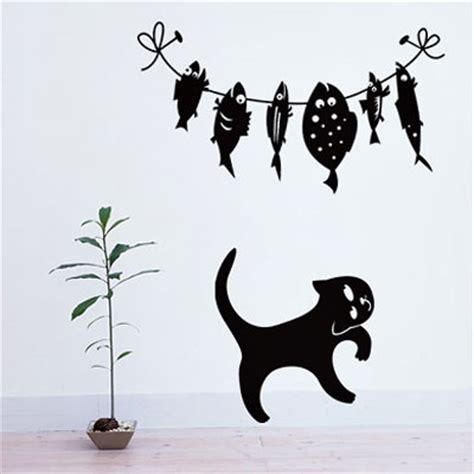 black cat wall stickers modern interior decorating ideas