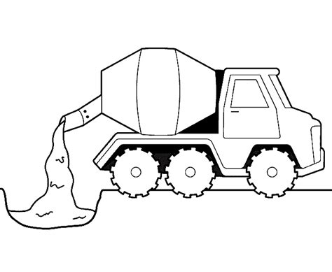 coloring pages cement truck free coloring pages of concrete truck