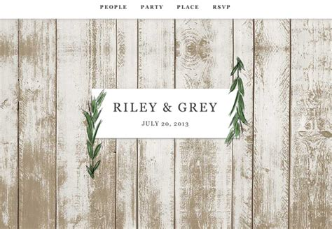 Rustic Wedding Website Templates Mini Bridal Rustic Wedding Website Templates