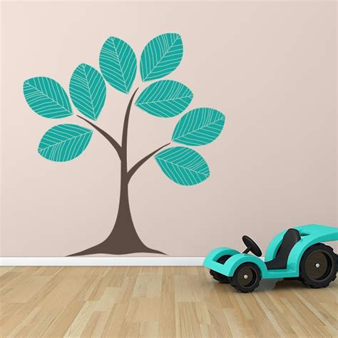 leaf wall stickers large leaf tree wall decal wall decal world