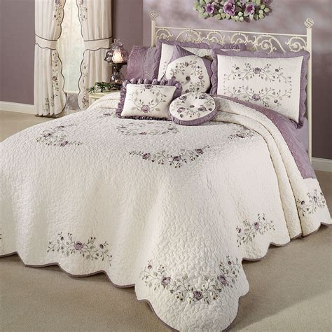lavendar bedding vintage bloom lavender grande bedspread bedding