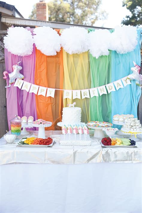 rainbows and sparkles birthday party ideas birthdays unicorn and rainbow birthday party craftiness is not