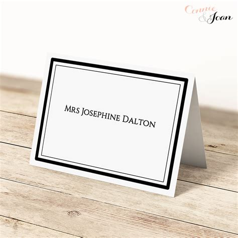 folded name card template word printable folded place cards names on both sides