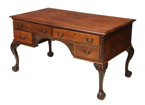 Chippendale Style Mahogany Partners Desk The Howard Hand Chippendale Desk
