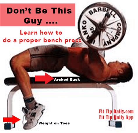chest bench press technique correct bench press technique for a better physique fit tip daily