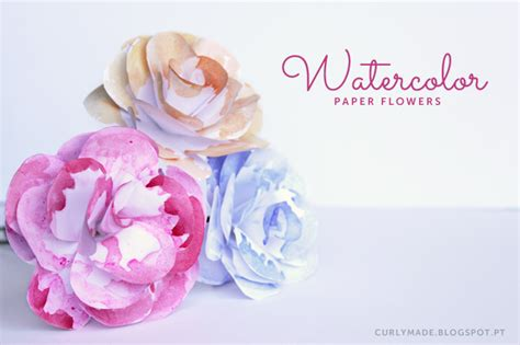 watercolour paper flower tutorial diy watercolor paper flowers curly made