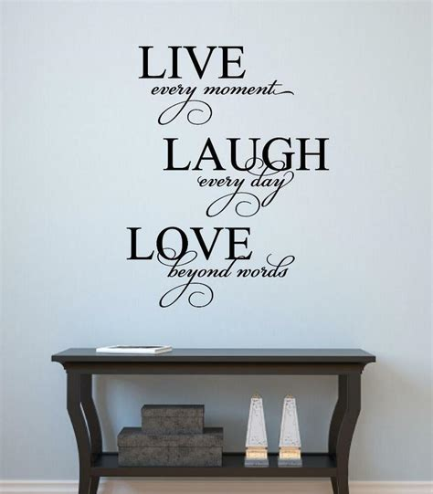 words for the wall home decor live laugh vinyl decal wall decor sticker words