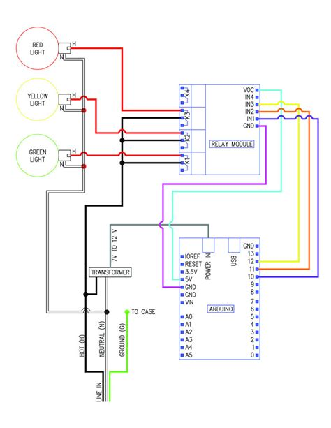 when to switch to 12 12 light cycle traffic signal wiring with arduino controller use arduino