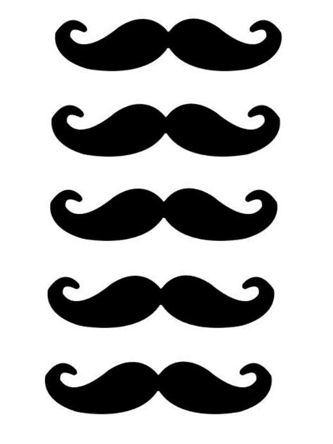 mustache print out template printable mustaches templates clipart best