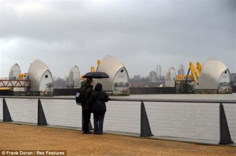 thames barrier up thames barrier shuts for the first time in two years to
