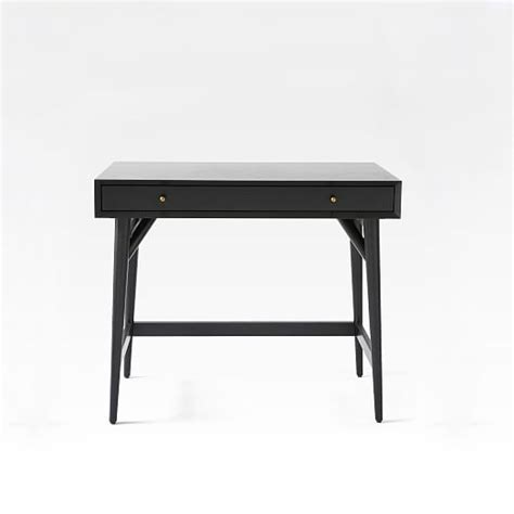 Mid Century Mini Desk Black West Elm West Elm Small Desk