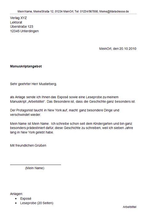 Anschreiben Anlagen Was Geh 246 Rt Alles In Ein Verlagsanschreiben 187 Schriftsteller Werden De