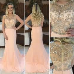 2017 cap sleeves prom dresses sweep train sheer straps