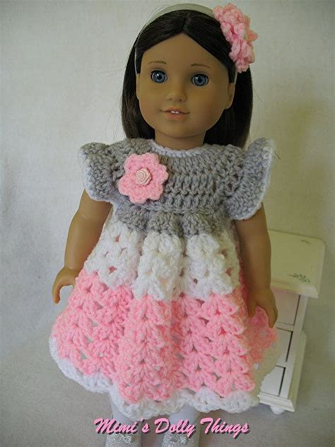 pattern crochet doll dress crocheted doll clothes for 18 inch dolls including