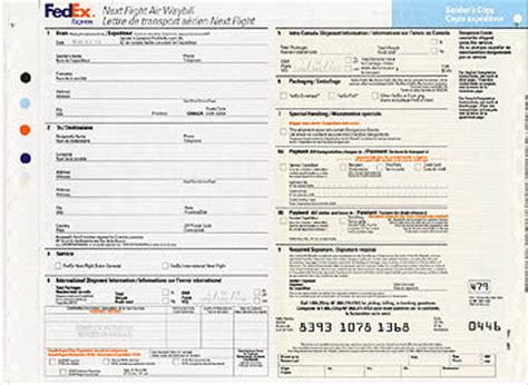 fedex canada fedex next flight air waybill
