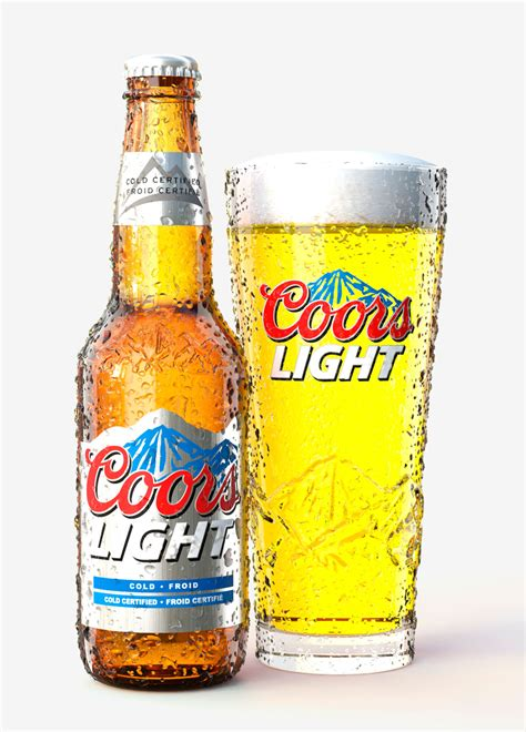 coors light glass bottle cgi bottle and glass illustration nimac illustration