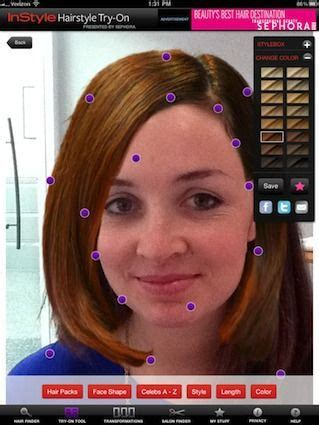 virtual hairstyles ipad app see how celebrity hairstyles look on you with instyle ipad app