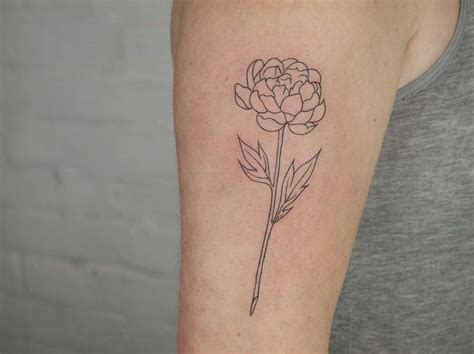 simple tattoo instagram simple peony outline on outer arm ty rachel https www