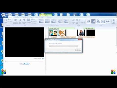 windows movie maker quick tutorial how to add 2 layers of audio in windows live movie maker